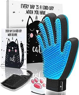GOLDSTA Guantes Manopla Masaje para Perros mascotas gatos, Retiro del pelo y aparato de masaje, promover la circulación de...