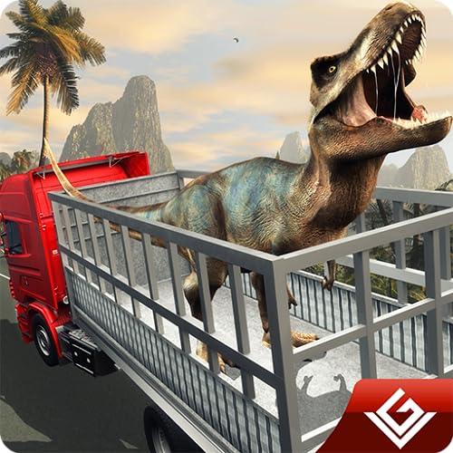 Wütender Dinosaurier-Transport-Tycoon Deluxe 3D: Wilder Tiertransporter-Monster-LKW, der Simulator-Abenteuer-Spiel fährt