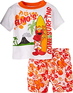 Sesame Street Baby Boys' 2 Piece Elmo Surf Short Set