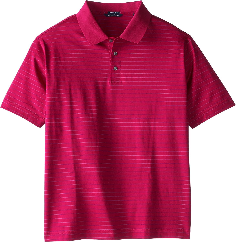 Cutter & Buck Men's Big-Tall Spencer Mercerized Stripe Shirt