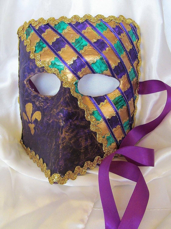 Mardi Gras Bauta Purple High quality new Green Bargain Mask men's Gold