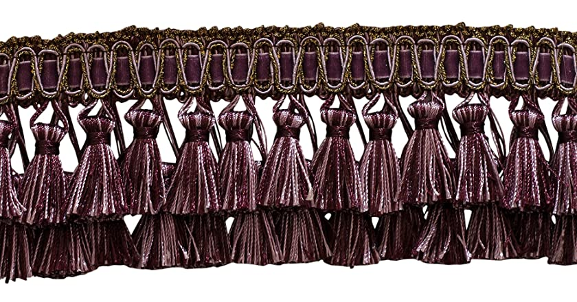 5 Yard Value Pack of Elaborate Dusty Mauve, Dark Plum 3