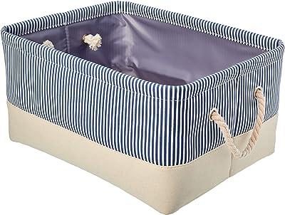 AmazonBasics Fabric Storage Basket with Handles, Medium (2-Pack)