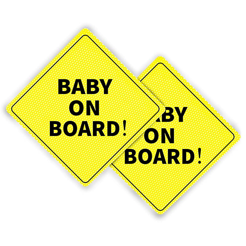 Baby On Board Sticker - Essential for Cars - 2 Pack, 5