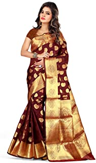Silk Zone Women's Silk Saree With Blouse Piece