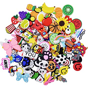 XHAOYEAHX 40,60,100,110,150pcs Shoes Charms Fits for Croc Clog Shoes Wristband Bracelet Party Girls Boys Gifts