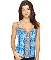 Bleu Rod Beattie - Mykonos Plunge Tankini Top