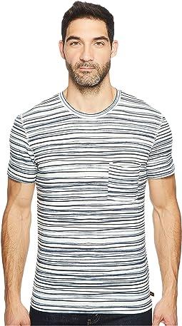 Short Sleeve Abstract Stripe Tee