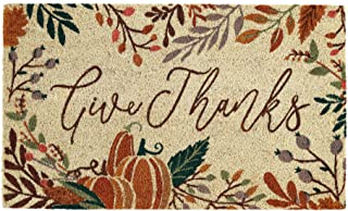 DII Natural Coir Doormat Fall & Thanksgiving Seasonal Mat, 18x30, Give Thanks