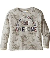 C&C California Kids - Printed Fleece Cropped Pullover (Little Kids/Big Kids)