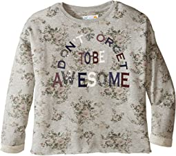 Printed Fleece Cropped Pullover (Little Kids/Big Kids)