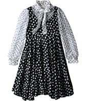 Dolce & Gabbana Kids - City Floral Print Long Sleeve Dress (Big Kids)