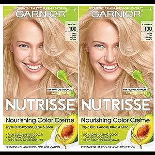 Garnier Hair Color Nutrisse Nourishing Creme, 100 Extra-Light Natural Blonde (Chamomile), 2 Count
