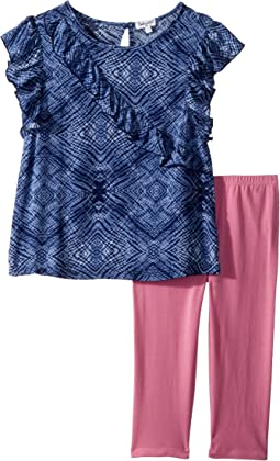 Ruffle Voile Top Set (Little Kids)