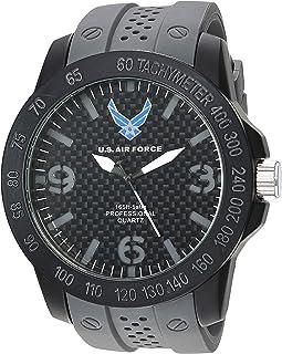 U.S. Airforce Men's Grey Silicone Strap Field Watch by Wrist Armor, F3/1005