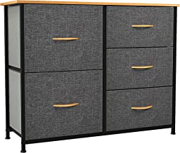 YITAHOME Dresser with 5 Drawers - Fabric Storage Tower, Organizer Unit for Bedroom, Living Room, Closets & Nursery - Sturd...