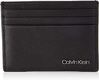 CALVIN KLEIN Men's CARDHOLDER 6CC Accessory-Travel Wallet, Black, One Size