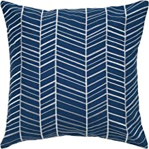 """Rizzy Home T05238 Decorative Poly Filled Throw Pillow 18"""" x 18"""" Navy"""