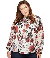 Lucky Brand - Plus Size Open Floral Print Top
