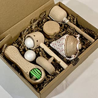 Juguetes de madera: 5 juguetes de madera natural. Fabricación artesana, handmade.