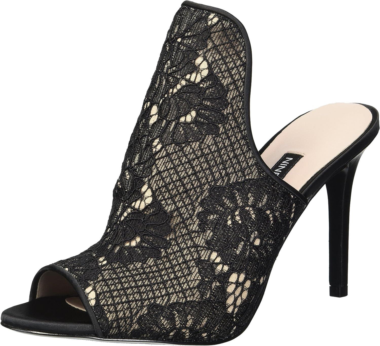 Nine West Womens Magdor Fabric Heeled Sandal