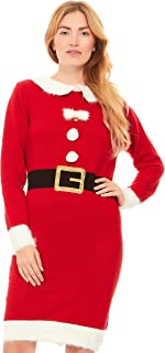Just One Women's Knit Ugly Christmas Sweater Dress Xmas Women (Also Plus Size)