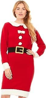mrs claus sweater dress walmart
