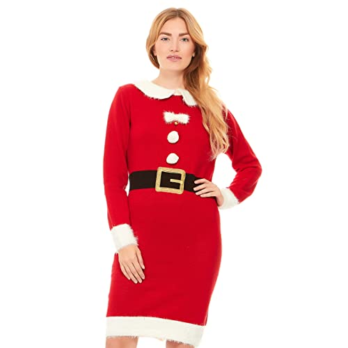 9383f9907db Just One Ugly Christmas Sweater Dress Xmas for Women Cute (Reg and Plus  Size)