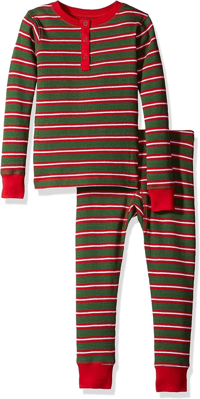 Hatley Boys' Organic Cotton Long Henley Sleeve San Diego Super beauty product restock quality top! Mall Set Pajama Waffle
