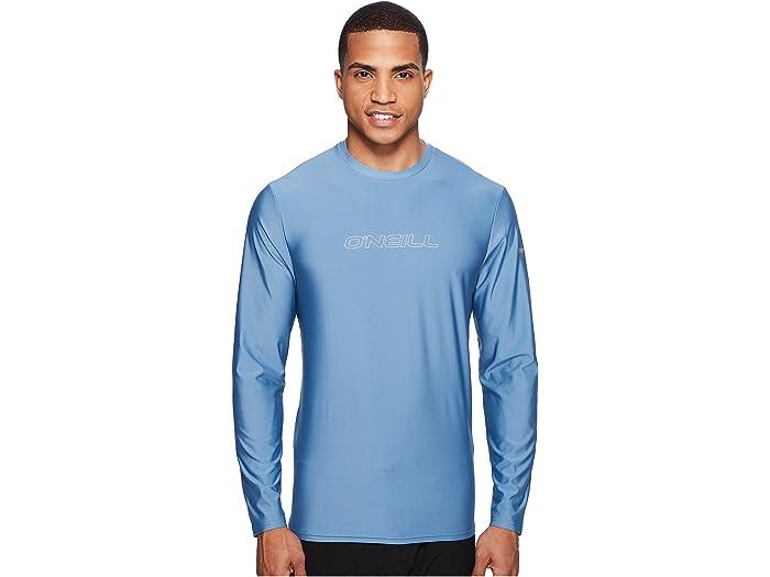 O/'Neill Dusty Blue Surf Basic Skins S//S Rashguard T-Shirt