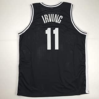 Unsigned Kyrie Irving Brooklyn Black Custom Stitched Basketball Jersey Size Men`s XL New No Brands/Logos