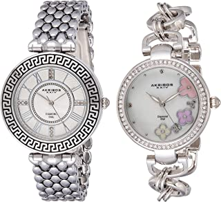 Akribos Xxiv Women's Quartz Watch, Analog Display and Stainless Steel Strap Ak886Ss