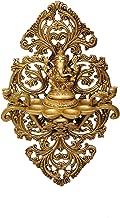 Aesthetic DecorsGanesh 6 Deeva Oil Lamp with Jaali Frame & Peacock Brass Hanging Diya