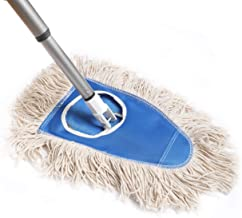 Fuller Brush Dry Mop - Commercial Floor Dusting & Mopping Cleaner w/ Extension Handle & Washable Head For Drying & Dusting Kitchen & Bathroom Floors