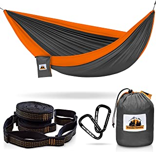 Traveler Fantasy Double Camping Hammock: Durable Nylon Parachute Portable Ultraweight Hammock, Backpacking, Beach, Yard, Swing, Super Strong Straps & Carabiner