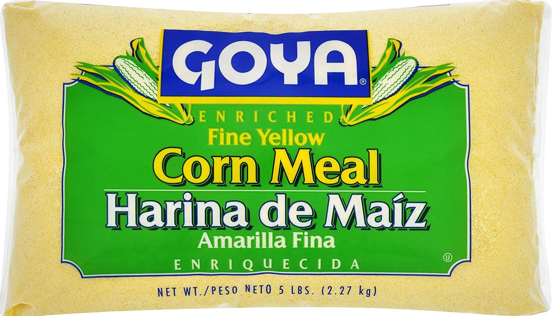 Goya Foods Fine Yellow Corn Meal Japan Maker New Pound 5 Pack 4 of Over item handling