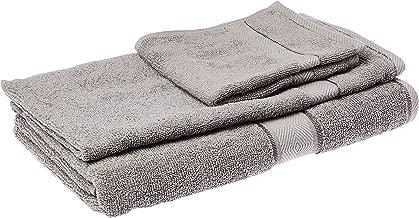 Panache Exports Utopia Towel Set, Light Grey, 70 cm x 140 cm, PEUTOSET01, 3 Pieces