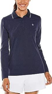 Coolibar UPF 50+ Women's Long Sleeve Birdie Golf Polo - Sun Protective