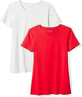 e6d04850 Amazon Essentials Women's 2-Pack Classic-Fit Short-Sleeve Crewneck T-Shirt