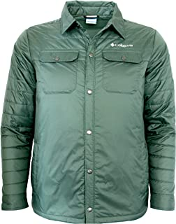 Columbia Mens Mt. MicKinley Shirt Water Resistant Light Insulated Jacket (XL, Green)
