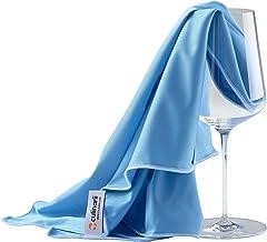 culinarii Paños de pulido en azul con borda azul, limpia copas y decantadores de cristal y superficies brillantes – Fabricado en Austria (2 Paños 40 x 60 cm)