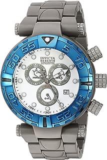 Men's Subaqua Quartz Watch with Titanium Strap, Grey, 12...