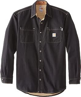 Men's Big & Tall Flame Resistant Canvas Shirt Jacket