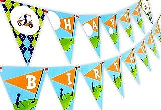 Golf Party Happy Birthday Banner Pennant