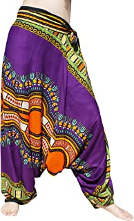 Full Funk Baggy Crotch Side Tied Mao Hill Tribe Harem Lounge Pants Dashiki Art