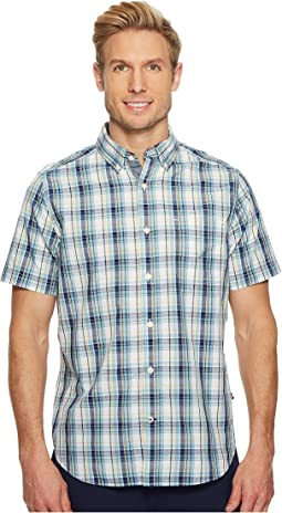Nautica - Short Sleeve Large Plaid Shirt