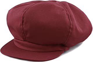 61200e4e008d5 THE HAT DEPOT Exclusive Cotton Newsboy Gatsby Applejack Cabbie Plain Hat  Made in USA