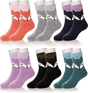 Kid Girls Boys Soft Thick Wool Socks Thermal Warm Cotton Winter Casual Children Toddler Socks 6 Pairs