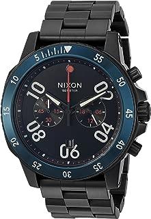 Nixon Men's Ranger Chrono Quartz Watch with Stainless-Steel Strap, Black, 8 (Model: A549602-00)