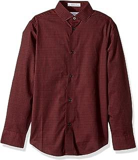 Boys' Long Sleeve Gingham Button-Down Dress Shirt